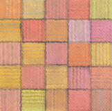 Striped mixed patchwork blurry square pattern background royalty free illustration