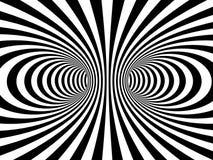 Striped monochrome vortex A Stock Photos
