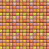 Striped mosaic backdrop in multiple soft candy color Stock Photography