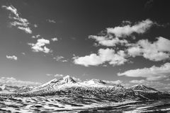 Striped Mountains Royalty Free Stock Image