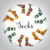 Striped multicolor socks Royalty Free Stock Images