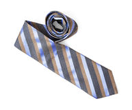 Striped necktie on the white background, beauty and fashion royalty free stock photos
