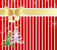 Striped new-year background Royalty Free Stock Image