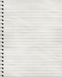 Striped notebook Royalty Free Stock Photography