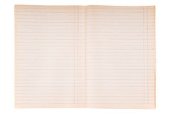 Striped notebook paper texture Royalty Free Stock Image