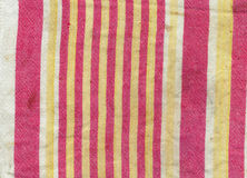 Striped old dirty cloth towel background 2 Stock Photography