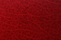 Striped old red leather, abstract background.  stock photos