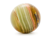 Striped onyx ball Stock Images