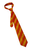 Striped orange necktie Stock Images