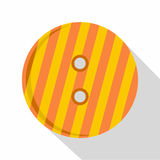Striped orange and yellow clothing button icon Stock Image