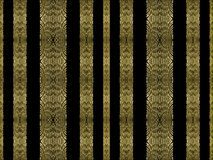 Striped Ornate Seamless Pattern. Vertical stripes ornament decorative seamless pattern design in gold tones against black background Royalty Free Stock Photography