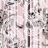 Striped paisley pattern Royalty Free Stock Image
