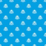 Striped pajama shirt pattern seamless blue. Striped pajama shirt pattern repeat seamless in blue color for any design. Vector geometric illustration Royalty Free Stock Photo