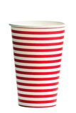 Striped paper cup Stock Image