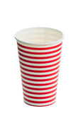 Striped paper cup Royalty Free Stock Photography