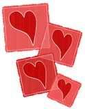 Striped Paper Valentine Hearts Collage Royalty Free Stock Photos