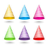 Striped Party Hats Stock Photography