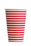 Striped pater cup for a party Stock Photography