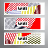Striped pattern banners Royalty Free Stock Photos