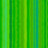Striped pattern with brushed lines in green. Royalty Free Stock Photo