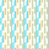 Striped pattern. Color striped pattern including seamless sample in swatch panel Stock Image