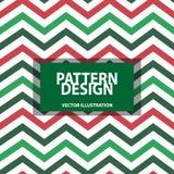Striped Pattern Design - Vector Illustration - Isolated On White Background vector illustration