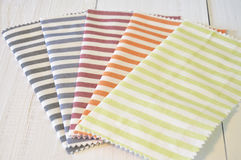 Striped pattern fabrics Royalty Free Stock Photo