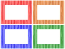 Striped Pattern Frame Set Royalty Free Stock Photos