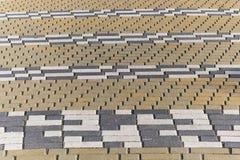 Striped pattern of rectangular tiles Stock Images