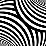 Striped pattern. Repeated white color wavy lines on black background. Curves abstract wallpaper. Vector illustration Stock Image