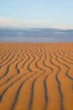 Striped pattern on a sand dune. Soft focus Stock Photo