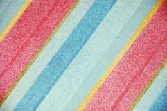 Striped patterned design. Pink and blue striped patterned textile design Stock Images