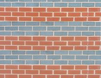 A striped patterned wall. A brick wall with blue and red stripes royalty free illustration