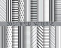 20 striped patterns Stock Photo