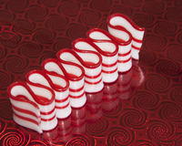 Striped Peppermint Ribbon Candy Stock Photos