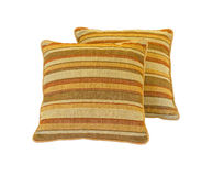 Striped pillows Stock Photos