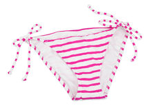 Striped pink Bikini bottom Stock Photography