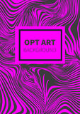 Striped pink opt art Stock Images
