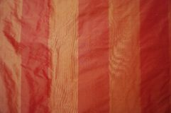 Striped pink raw silk textured fabric Royalty Free Stock Image