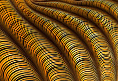 Striped pipes - abstract digitally generated image Royalty Free Stock Photo