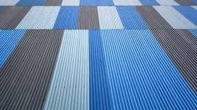 Striped Planks Wall. Blue, White and Gray Striped Planks Wall Stock Photo