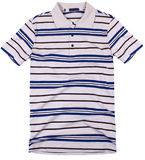 Striped polo shirt isolated Royalty Free Stock Photography