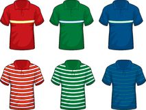 Striped Polo Shirts Royalty Free Stock Photography