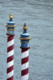 Striped posts Royalty Free Stock Images
