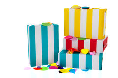 Striped presents Stock Images