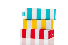 Striped presents Stock Image