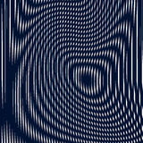Striped  psychedelic background with black and white moire lines Stock Images