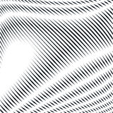 Striped  psychedelic background with black and white moire lines Stock Image