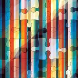 Striped puzzles. Royalty Free Stock Images