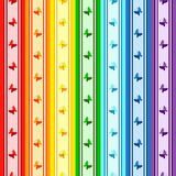 Striped rainbow pattern stock photography